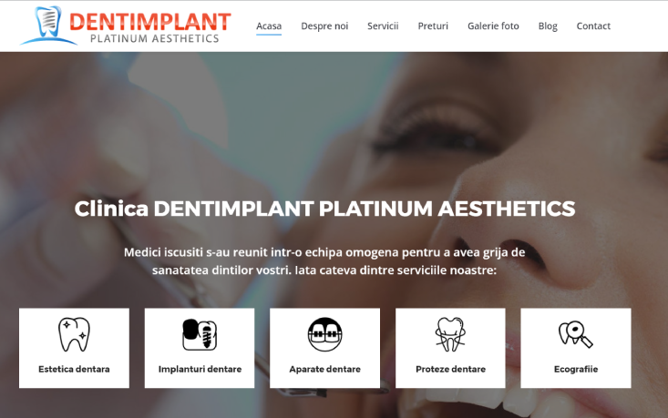 web design dentimplant