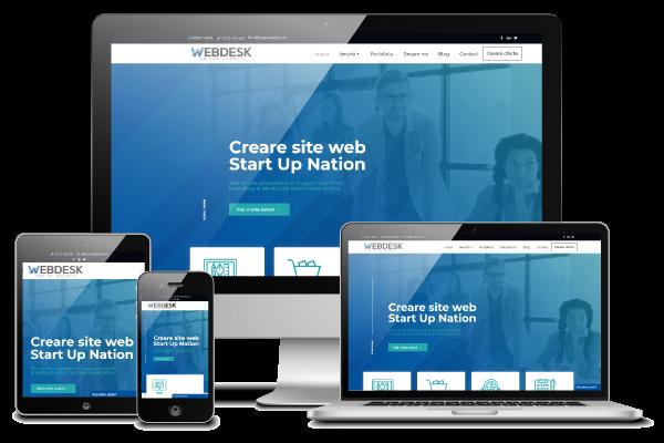 Site de prezentare Start-up Webdesk