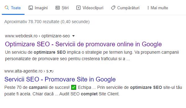 Campanii optimizare SEO Google