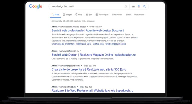 Campanie Google Search Ads