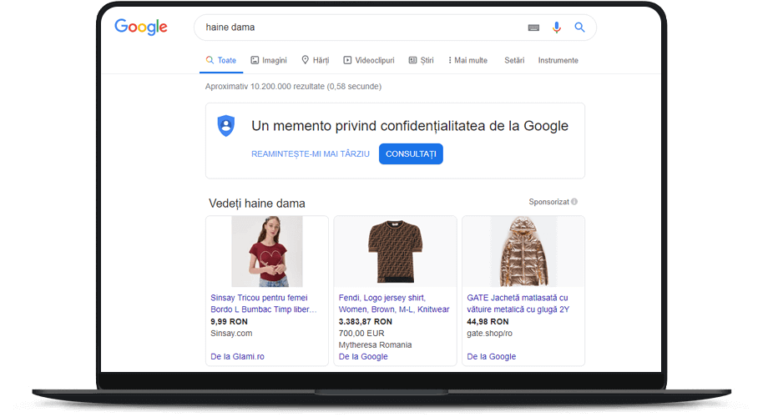 Campanie Google Shopping Ads